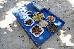Lunch na wyspie był smakowity